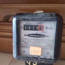 Antigüedades: ANTIGUO CONTADOR DE ELECTRICIDAD DE LA MARCA SIEMENS. Lote 44469081