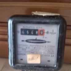 Antigüedades: ANTIGUO CONTADOR ELECTRICO MARCA SIEMENS, REVISION EN 1969. Lote 44469171