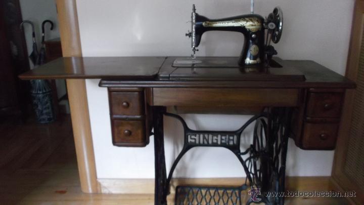 Maquina de coser singer, plegable, 5 cajones, p - Vendido