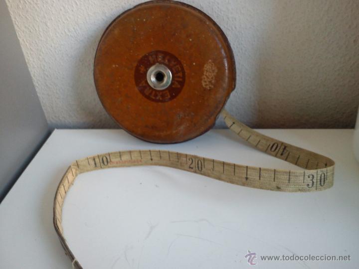 Antigüedades: ANTIGUO METRO HELVETIA EXTRA MIDE 20M. PRINCIPIOS DEL SIGLO XX - Foto 2 - 44620166