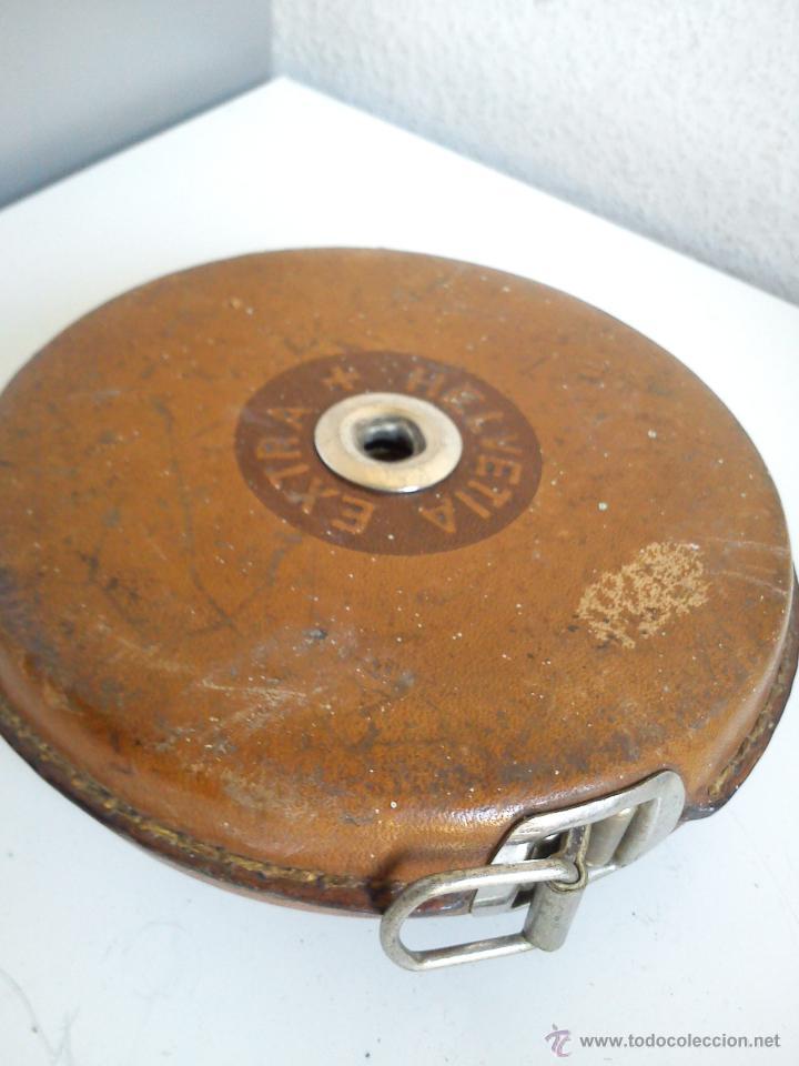 Antigüedades: ANTIGUO METRO HELVETIA EXTRA MIDE 20M. PRINCIPIOS DEL SIGLO XX - Foto 6 - 44620166