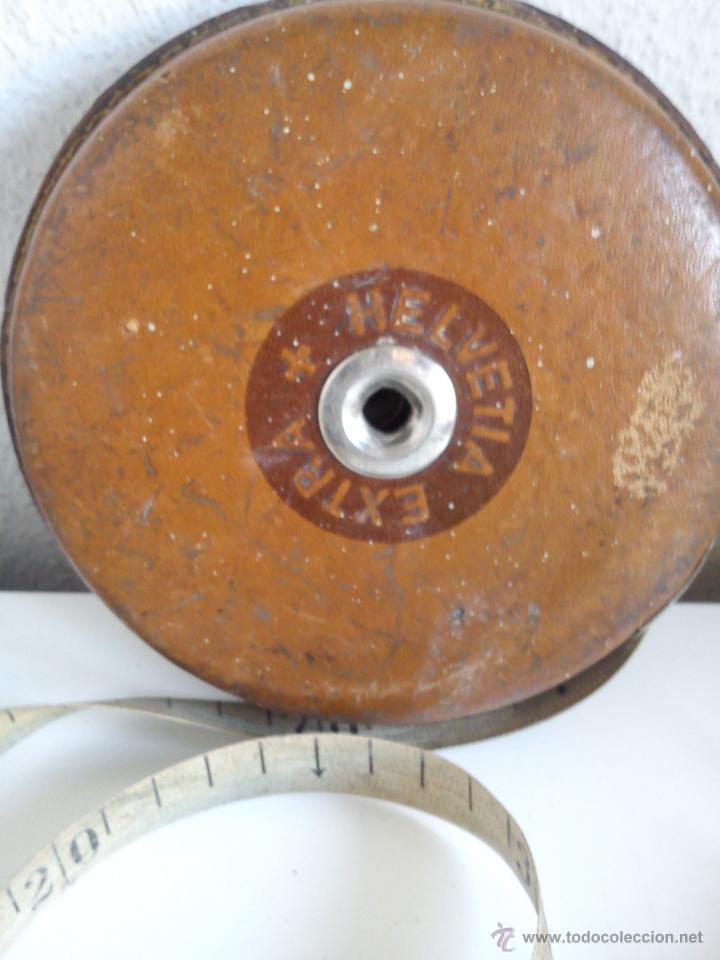 Antigüedades: ANTIGUO METRO HELVETIA EXTRA MIDE 20M. PRINCIPIOS DEL SIGLO XX - Foto 7 - 44620166