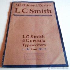 Antigüedades: MANUAL EN FRANCÉS DE LA MÁQUINA DE ESCRIBIR. MACHINES À ECRIRE LC SMITHS & CORONA. Lote 44669683
