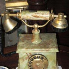 Teléfonos: DECORATIVO Y EXCLUSIVO TELEFONO VINTAGE ONIX MARMOL VERDE ITALIANO. Lote 44708899