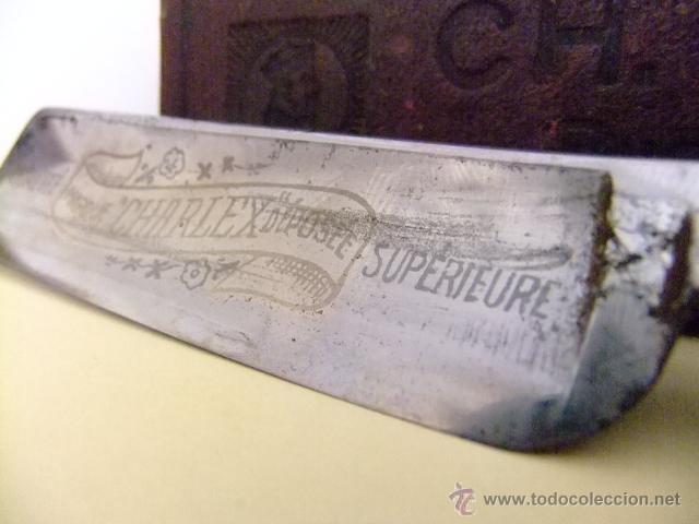 Antigüedades: NAVAJA DE AFEITAR - CHARLEX 60 - FORGÉ & ÉVIDÉ À SOLINGEN - Foto 3 - 44758224