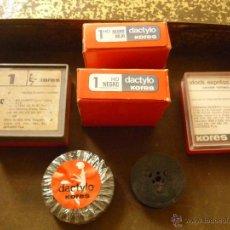 Antigüedades: LOTE DE CINTAS.ACCESORIOS PARA MÁQUINA DE ESCRIBIR ANTIGUAS.. Lote 44824279