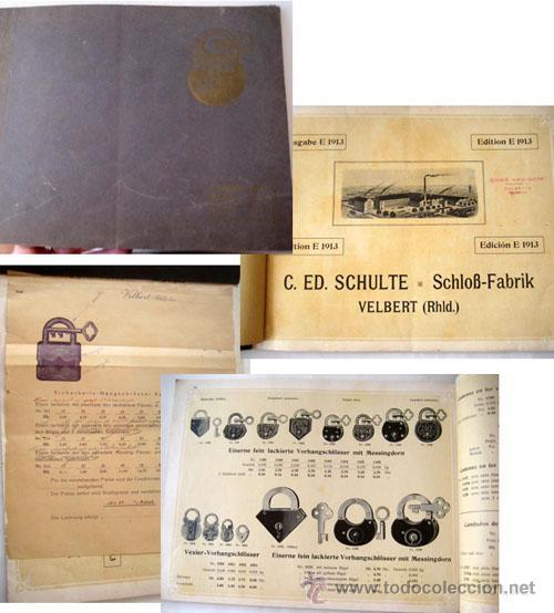 C.ED.SCHULTE. SCHLOSS-FABRIK - CATÁLOGO DE CANDADOS 1913 (Antigüedades - Técnicas - Varios)