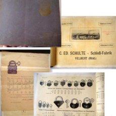Antigüedades: C.ED.SCHULTE. SCHLOSS-FABRIK - CATÁLOGO DE CANDADOS 1913. Lote 44900817