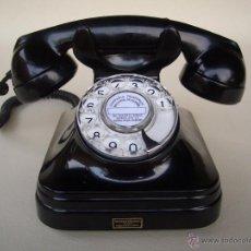 Teléfonos: TELÉFONO ANTIGUO AÑOS 50 STANDARD ELÉCTRICA, S.A. - MADRID 100% ORIGINAL. ADAPTADO A FIBRA ÓPTICA.. Lote 63607171
