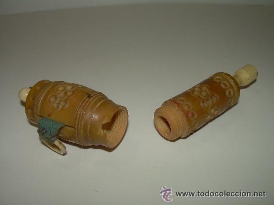 Antigüedades: ANTIGUO Y BONITO ALFILETERO TALLADO EN HUESO CON CINTA METRICA - Foto 3 - 45025728