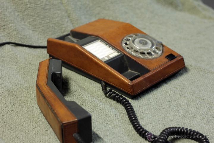 Teléfonos: Teléfono piel, adaptado y funcionando. Años 70 - Foto 2 - 45035808