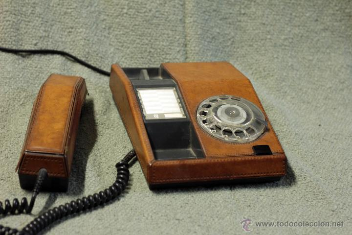 Teléfonos: Teléfono piel, adaptado y funcionando. Años 70 - Foto 3 - 45035808