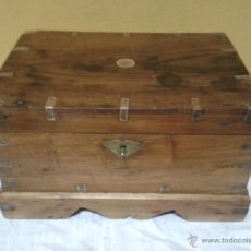 Antigüedades: ARQUETA PAPELERA DE BARCO S XVIII. Lote 45072445