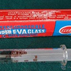Antigüedades: ANTIGUA JERINGA 10 CC. - SUPER EVA GLASS - ITALY - MEDICINA CIRUGIA FARMACIA - SIN USAR -. Lote 45076866