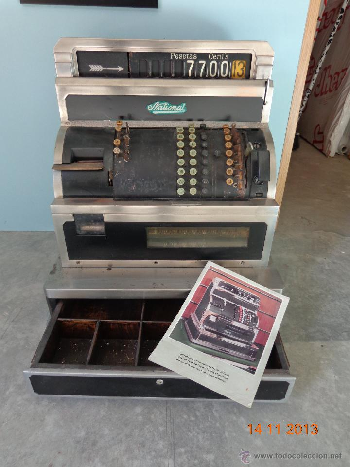 ¡¡¡ CAJA REGISTRADORA NATIONAL DE 1930 ENORME !!! (Antigüedades - Técnicas - Aparatos de Cálculo - Cajas Registradoras Antiguas)