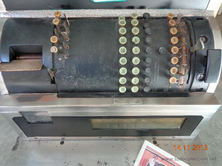 Antigüedades: ¡¡¡ CAJA REGISTRADORA NATIONAL DE 1930 ENORME !!! - Foto 5 - 45080731