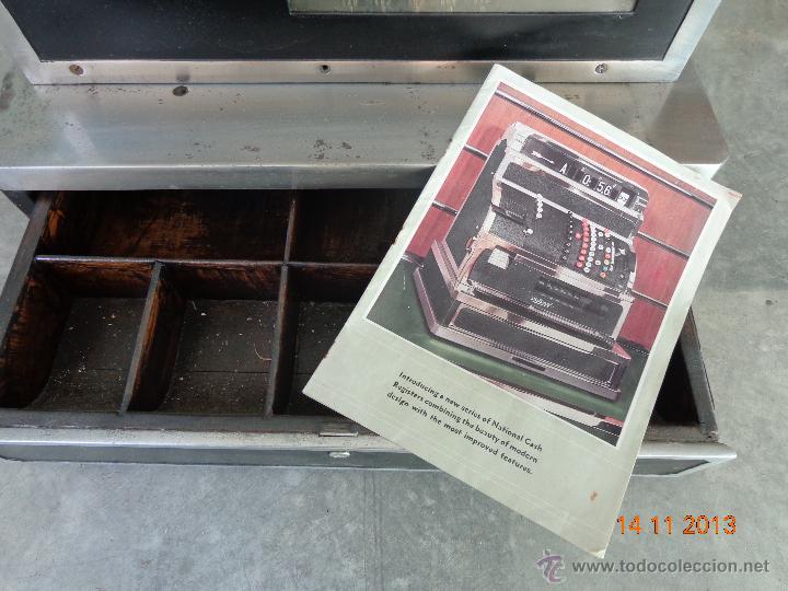 Antigüedades: ¡¡¡ CAJA REGISTRADORA NATIONAL DE 1930 ENORME !!! - Foto 6 - 45080731