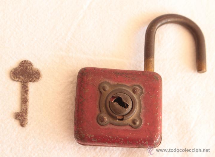 ANTIGUO CANDADO DE LA SUERTE (Antigüedades - Técnicas - Cerrajería y Forja - Candados Antiguos)