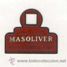 Antigüedades: LLAVE MECANICA CON PUBLICIDAD DE MALLAS MASOLIVER DE SABADELL. Lote 45107160