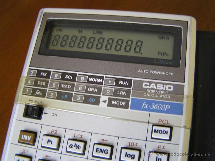 Antigüedades: CALCULADORA CASIO fx-3600P SCIENTIFIC CALCULATOR - Foto 17 - 118874331