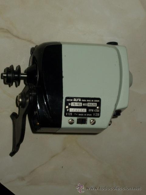 Antiguo motor original electrico,maquina de cos - Vendido