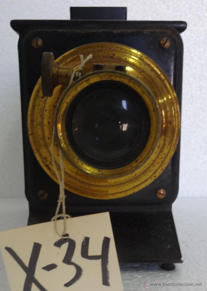 LINTERNA MÁGICA PRINCIPIOS SIGLO XX - 34 (Antigüedades - Técnicas - Aparatos de Cine Antiguo - Linternas Mágicas Antiguas)