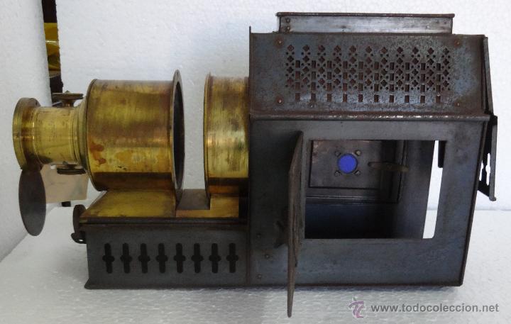 Antigüedades: LINTERNA MÁGICA PRINCIPIOS SIGLO XX - 35 - Foto 7 - 89708152