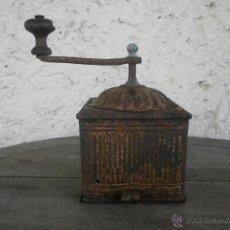 Antigüedades: ANTIGUO MOLINILLO DE CAFE METALICO. Lote 45161023