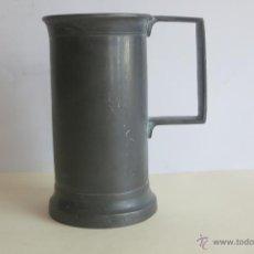 Antigüedades: MEDIDA DE ESTAÑO DE DOBLE DECILITRO PRECIOSA. Lote 45161379