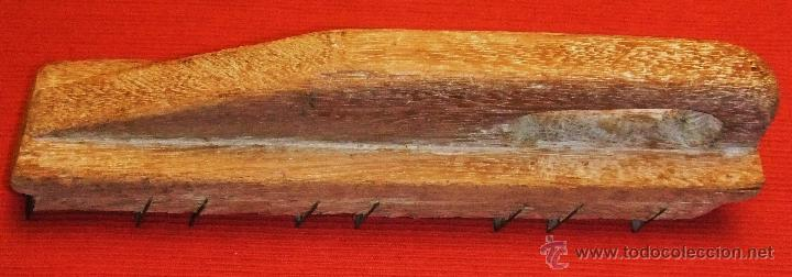Antigüedades: HERRAMIENTA RASPADOR DE MADERA Y HIERRO - Foto 2 - 45181239
