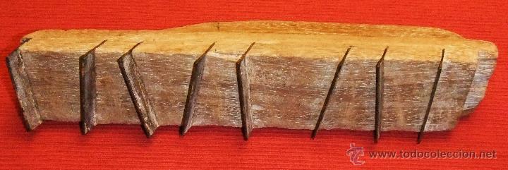 Antigüedades: HERRAMIENTA RASPADOR DE MADERA Y HIERRO - Foto 3 - 45181239