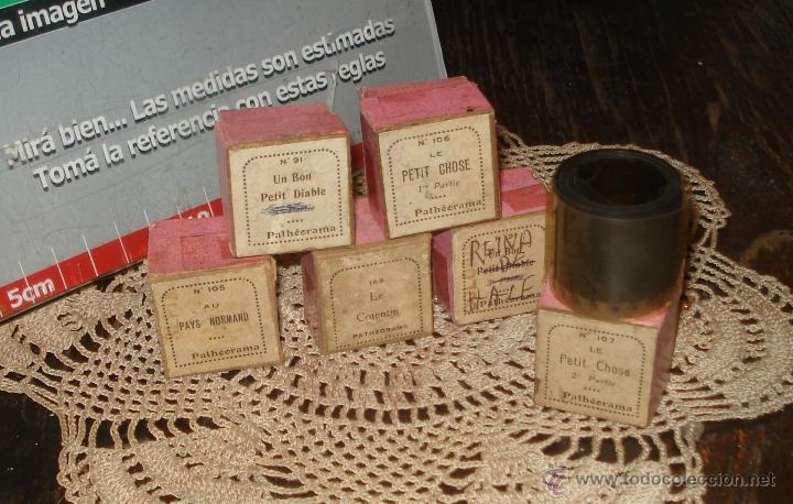 ANTIGUAS DIAPOSITIVAS COLOREADAS A MANO PATHEORAMA FILMETTE X6 AÑO 1900 (Antigüedades - Técnicas - Aparatos de Cine Antiguo - Linternas Mágicas Antiguas)