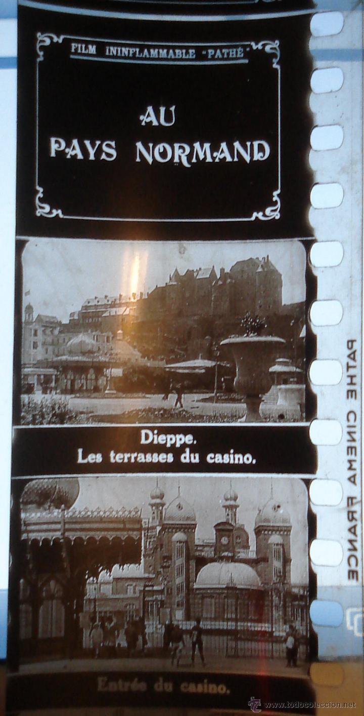Antigüedades: ANTIGUAS DIAPOSITIVAS COLOREADAS A MANO PATHEORAMA FILMETTE X6 AÑO 1900 - Foto 7 - 45195423