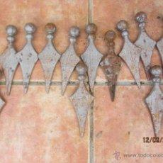 Antigüedades: PUNTA DE LANZA - ADORNO PARA REJA -HIERRO FORJADO.. Lote 45209031