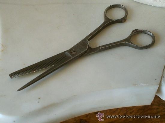 TIJERAS DE PELUQUERO 521 MONTANE ANTIGUAS (Antigüedades - Técnicas - Barbería - Varios Barbería Antiguas)