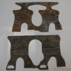 Antigüedades: CLICHÉ DE IMPRENTA PUBLICIDAD ETIQUETA VINO AZUARA MANZANARES. Lote 45234647