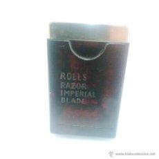 Antigüedades: ANTIGUA CAJITA DE BAQUELITA RECAMBIO PARA MAQUINA DE AFEITAR-ROLLS RAZOR IMPERIAL BLADE. Lote 45249301