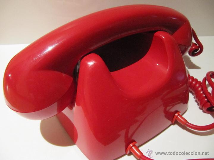 Teléfonos: TELEFONO HERALDO CITESA TECLAS ADAPTADO. ROJO ORIGINAL VINTAGE - Foto 4 - 45252914