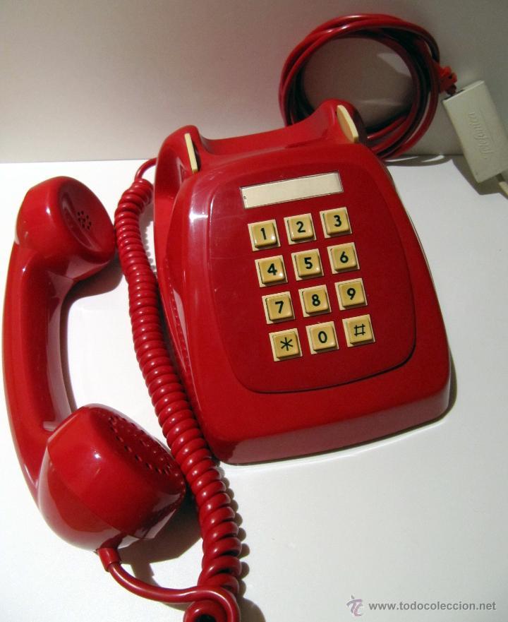 Teléfonos: TELEFONO HERALDO CITESA TECLAS ADAPTADO. ROJO ORIGINAL VINTAGE - Foto 5 - 45252914