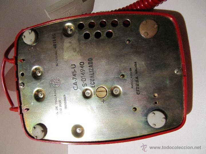 Teléfonos: TELEFONO HERALDO CITESA TECLAS ADAPTADO. ROJO ORIGINAL VINTAGE - Foto 6 - 45252914