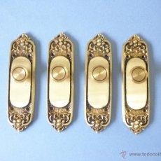 Antigüedades: TIRADORES ANTIGUOS DE LATON. Lote 45256161