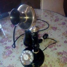 Teléfonos: ANTIGUO TELEFONO DE MESA. ORIGINAL Y TODO METAL. BRONCE Y HIERRO. FOTOS Y DESCRIPCION......... Lote 45332321