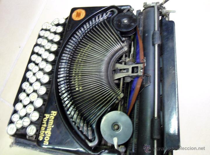 REMINGTON PORTABLE INGLESA DE LUJO. (Antigüedades - Técnicas - Máquinas de Escribir Antiguas - Remington)