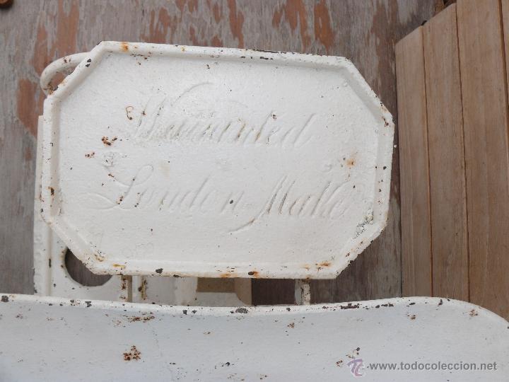 Antigüedades: BASCULA O BALANZA ANTIGUA EN HIERRO MEDICINA DE HOSPITAL LONDON - Foto 3 - 45422340