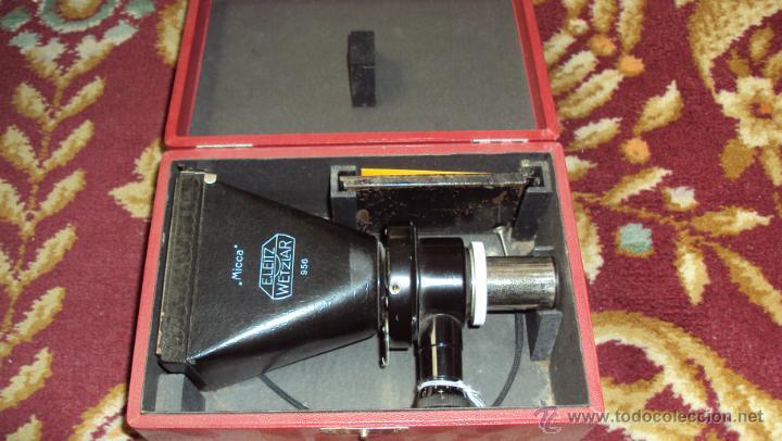 CÁMARA DE MICROSCOPIO E.LEITZ WETZLAR MICCA 956 (Antigüedades - Técnicas - Instrumentos Ópticos - Microscopios Antiguos)