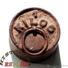 Antigüedades: PESA DE HIERRO 1 KILOGRAMO. Lote 45482781
