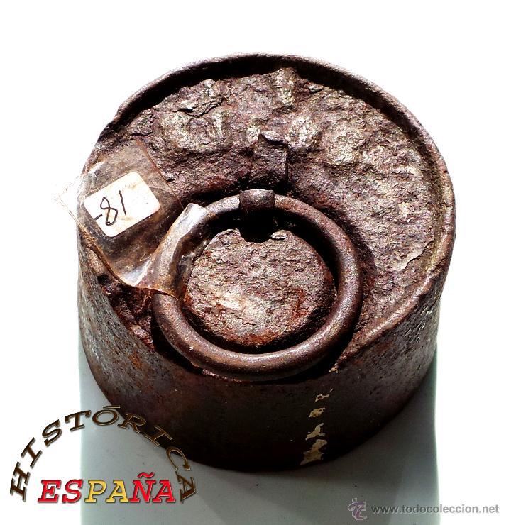 Antigüedades: PESA DE HIERRO 1 KILOGRAMO - Foto 2 - 45482809