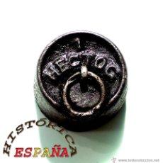 Antigüedades: PESA DE HIERRO 1 HECTOGRAMO. Lote 45482820