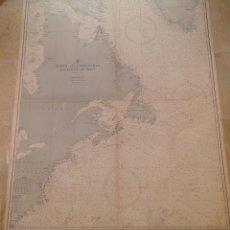 Antigüedades: HYDROGRAPHIC OFFICE US NAVY MAP 1886 NORTH ATLANTIC OCEAN NORTHWESTERN SHEET #955. Lote 45507177