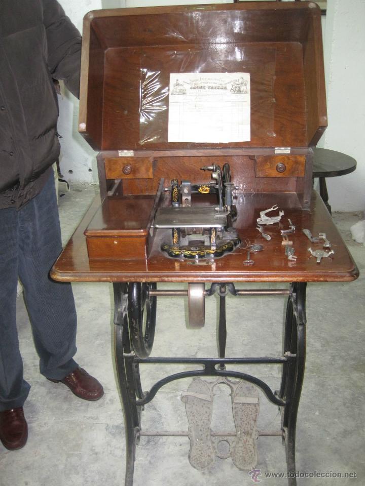 MAQUINA DE COSER ANTIGUA DE 1872 DE WHEELER&WILSON (Antigüedades - Técnicas - Máquinas de Coser Antiguas - Wheeler Wilson )